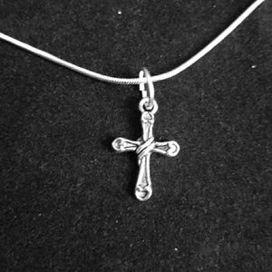 Rugged Cross .925 Sterling Silver Necklace